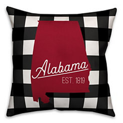 Alabama Buffalo Check Pillow