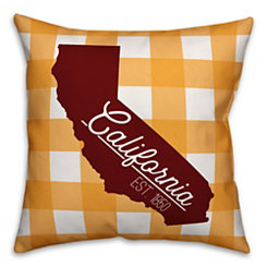California Buffalo Check Pillow