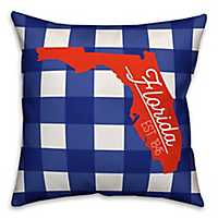 Florida Buffalo Check Pillow