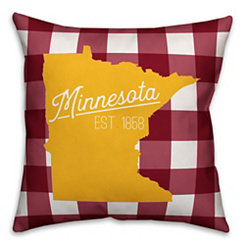 Minnesota Buffalo Check Pillow