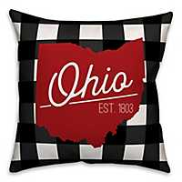 Ohio Buffalo Check Pillow