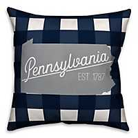 Pennsylvania Buffalo Check Pillow