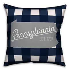 Pennsylvania Buffalo Check Pillow