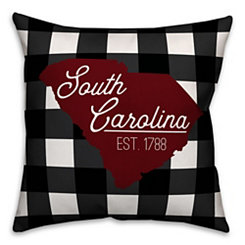 South Carolina Buffalo Check Pillow