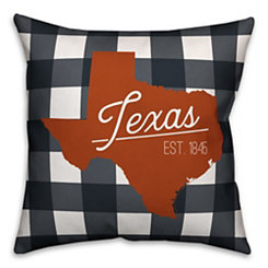 Texas Buffalo Check Pillow