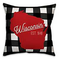 Wisconsin Buffalo Check Pillow