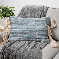 Ombre Blue Accent Pillow with Tassels