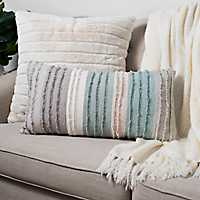 Cool Fringe Stripes Accent Pillow