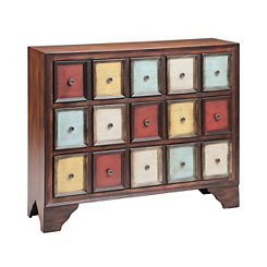 Multicolored 3-Drawer Apothecary Chest