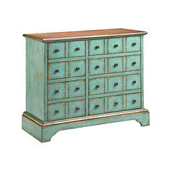 Turquoise 8-Drawer Apothecary Chest
