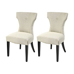 Allysa Gray Dining Chairs, Set of 2