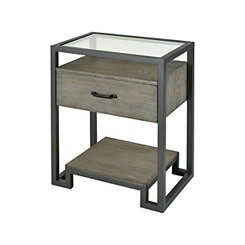 Chelsea Reclaimed Gray Oak Accent Table
