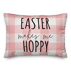 Buffalo Check Easter Pillow