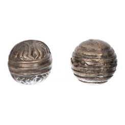 Embossed Textured Gold Orbs, Set of 2