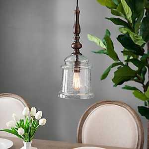 Karen Seeded Glass Pendant Light