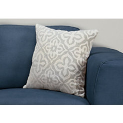 Light Gray Motif Pillow