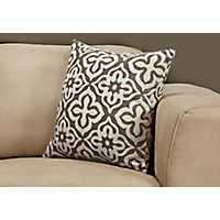 Dark Taupe Motif Pillow