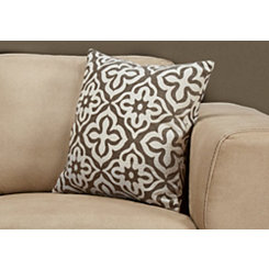 Dark Taupe Motif Pillow