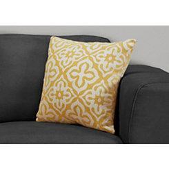 Yellow Motif Pillow