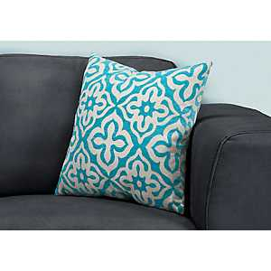 Teal Motif Pillow