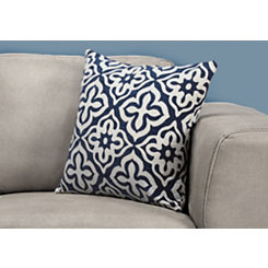 Navy Geometric Motif Pillow