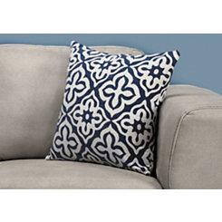 Navy Geometric Motif Pillow