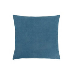 Blue Linen Pattern Pillow