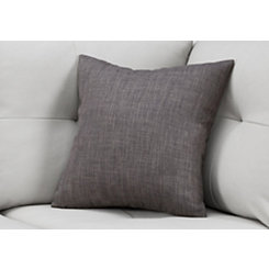 Dark Gray Linen Pattern Pillow