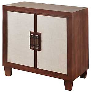 Linen Panel 2-Door Wood Cabinet