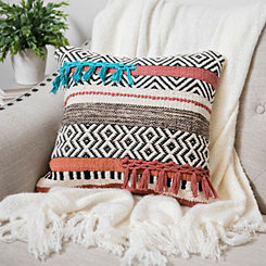 Textured Multicolor Aztec Pillow