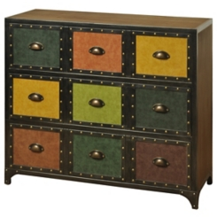 Faux Leather 3-Drawer Chest