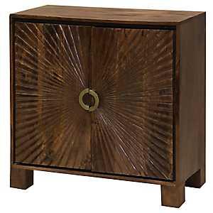 Starburst Solid Mango Wood 2-Door Cabinet