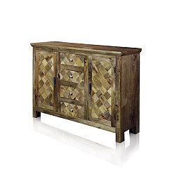 Checkered Solid Mango Wood Sideboard