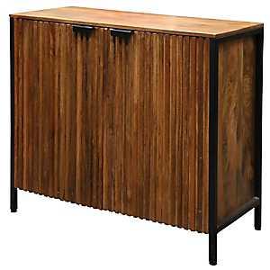 Rylee Solid Mango Wood 2-Door Cabinet