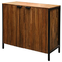 Rylee Solid Mango Wood 2-Door Cabinet