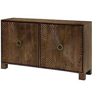 Starburst Solid Mango Wood 4-Door Cabinet
