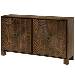 Starburst Solid Mango Wood 4-Door Cabinet