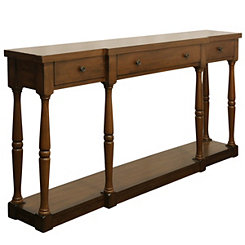 Everly Cherry 3-Drawer Console Table