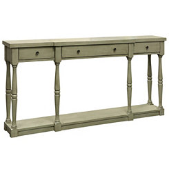Everly Gray 3-Drawer Console Table