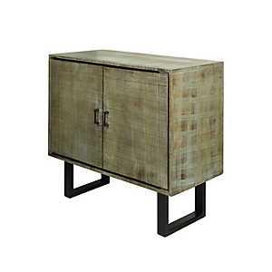 Hailey Distressed Gray Mango Wood Cabinet