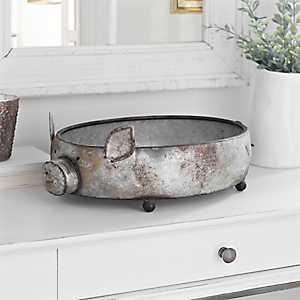 Metal Footed Pig Bowl