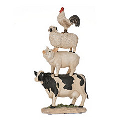 Stacked Farm Animals Figurine