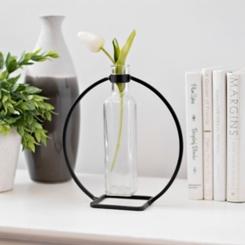 Hanging Vase in Circle Stand