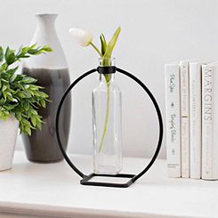 Hanging Vase in Circle Stand