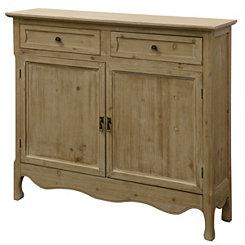 Pine Wood 2-Door Cabinet
