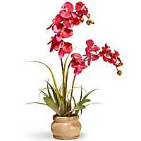 Pink Orchid in Round Planter, 24 in.
