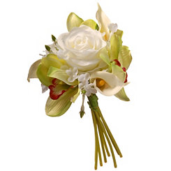White Rose and Calla Lily Bundle Bouquet