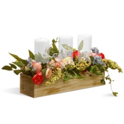Blooms, Berries, and Pastel Eggs Centerpiece
