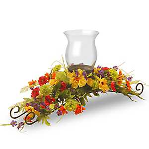Mixed Floral Candle Holder