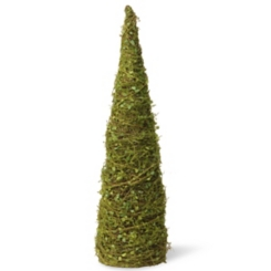 Topiary of Vines with Moss Cone Tree, 24 in.